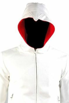 Assassin's Creed 3 Desmond Miles White Hoodie Costume Xcoser (No Zip on the Top of Hoodie) (Small)  www.assassinscreed3costumes.com/