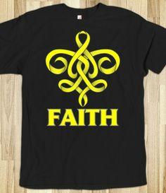 Faith Endometriosis Fleur de Lis Ribbon Shirts by endometriosistshirts.com #endometriosis #endometriosisawareness #endo