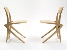 Chair No 6 - A modern high end chair design by Alexander Lorenz. This very light and elastic chair with its light sculptural shape fits perfect into small rooms. Cantilever Chair, No 6, Wishbone Chair, Small Rooms, Chair Design, Animation, Shape, Sculpture, Unique