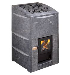HIIDENKIVI is a Helo first - the only soapstone covered wood burning sauna heater available. Sturdy, classic quality soapstone shell makes a design statement, infusing your sauna atmosphere with a sense of comfort and exclusivity. At the same time, the soapstone has excellent heat retention properties, storing heat and releasing it in even waves of genuine climate comfort.
