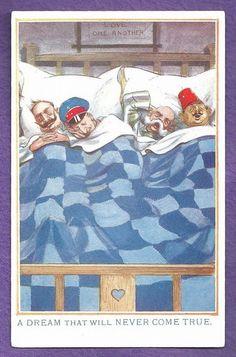 WW1 Satirical Propaganda PC - Turkey, Germany, Austria, Bulgaria / Humor