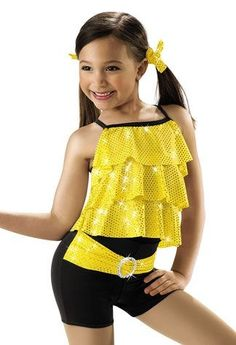 Yellow hip hop dance costum
