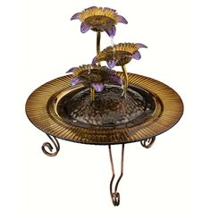 """13.5"""" Triple Flower Fountain Outdoor Garden Rooms, Indoor Water Fountains, Miniture Things, Great Gifts, Flowers, Royal Icing Flowers, Floral, Florals, Flower"""