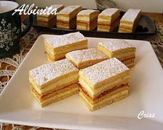 Aceasta prajitura clasica este poate una dintre cele mai bune prajituri de casa, prajitura copilariei am numit-o eu, pentru ca desi mam... Sweets Recipes, Cake Recipes, Biscuits, Thing 1, Food Cakes, Cakes And More, Vanilla Cake, Food And Drink, Cooking