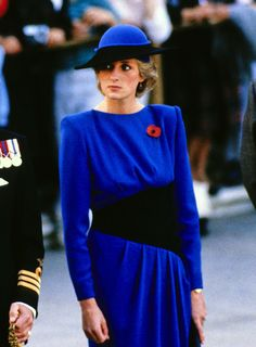 Princess Diana looks on as her husband Prince Charles lays a wreath at the Tomb of the Unknowns in observance of Veterans Day at Arlington National Cemetery in Arlington, Virginia. 11 Nov 1985 (REX/Shutterstock)