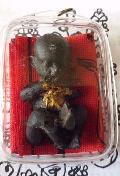 Thai Buddha Amulet Kumanthong LP TE Voodoo Doll Baby Ghost  Real Wealth Charm
