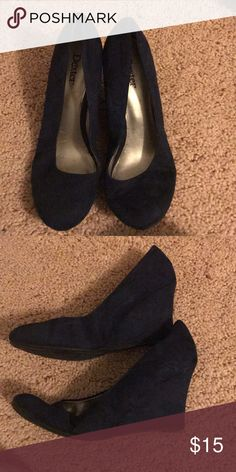 Navy blue wedges Navy blue wedges, worn once dexter Shoes Wedges