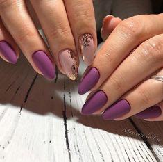 The Best Matte Manicure New Matte Nail Design Ideas 2019 80 Trendy Images Gorgeous Nails, Pretty Nails, Fun Nails, Nail Manicure, Nail Polish, Matte Purple Nails, Nails 2018, Nagel Gel, Stylish Nails
