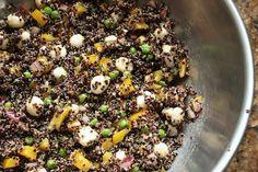 quinoa with mozzarella and fresh oregano