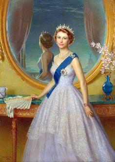Douglas Granville Chandor (1897-1953)  —  Her Majesty Queen Elizabeth II,  1952 :  Government Art Collection, London UK (800×1121)