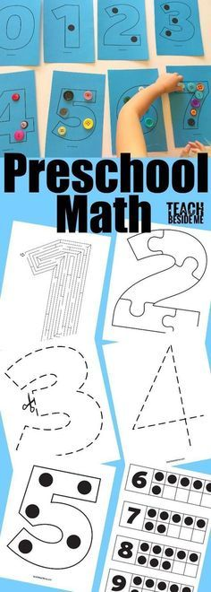 Preschool Math Activities - counting and number recognition for #preschool #zerotothree #parentlife