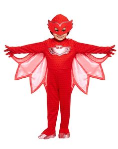 Toddler Owlette Costume - PJ Masks - Dress your little one up as the famous Owlette from PJ Masks this Halloween! The pajama costume jumpsuit is one piece and has a Velcro back entr Pj Masks Owlette Costume, The Mask Costume, Toddler Halloween Costumes, Spirit Halloween, Girl Costumes, Fantasia Pj Masks, Festa Pj Masks, Girl Themes, Vintage Bohemian