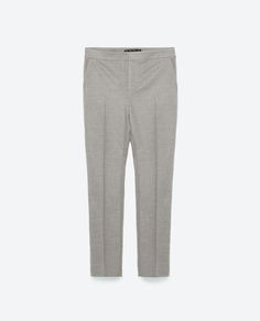 Image 8 of FLANNEL CHINOS from Zara