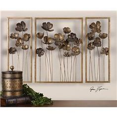 Metal Tulips Wall Art Set/3
