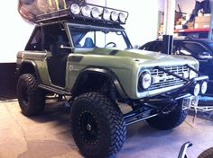 Sweet olive green ford classic bronco