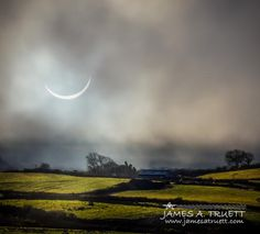 The near-total solar eclipse of 2015's Spring Equinox casts an eerie glow on this farm in the countryside of #Ireland's County Clare between Lissycasey and Ballynacally. http://www.jamesatruett.com