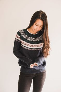 Fair Isle Classic Christmas Sweater from Hollister, Fashion, Style, ootd - Simply Lovebirds