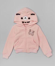 44ca097b9214 Look at this Urban Republic Sweet Pink Teddy Bear Zip-Up Hoodie - Infant