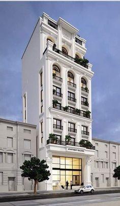 Classic House Exterior, Classic House Design, House Front Design, Dream House Exterior, Residential Building Design, Architecture Building Design, Facade Design, Exterior Design, Neoclassical Architecture