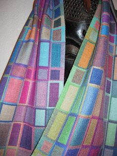 MADE TO ORDER for you Handwoven Silk Scarf Doubleweave Hand