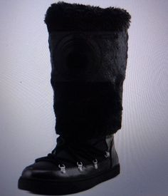 INC International Concepts Soffy Women  Round Toe Canvas White/Black Winter Boot #INCInternationalConcepts #SnowWinter
