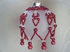 Beaded Christmas Ornament Covers | Christmas Ornament / Beaded Ornament Cover / by ... | Beaded ornaments