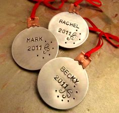 Metal Stamped Holiday Ornament
