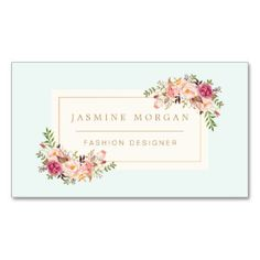 Elegant Pastel Watercolor Floral Boutique Decor Double-Sided Standard Business Cards (Pack Of 100)