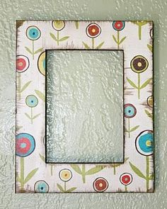 DIY Using Paper to Decorate a Frame DIY Picture Frame DIY Home DIY Decor