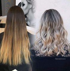 Ash Blonde Wavy Hairstyles with Medium Hair - Balayage Hair Styles