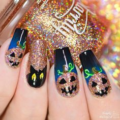 Halloween Nail Art from SimplyNailLogical - Featuring Zyler the Cat Polish