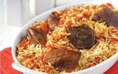 Lamb and orzo (Arnaki yiouvetsi me manestra) - iCookGreek Greek Recipes, Meat Recipes, Cooking Recipes, Healthy Recipes, Eat Greek, Beef Pasta, Greek Cooking, Greek Dishes, Beef And Noodles