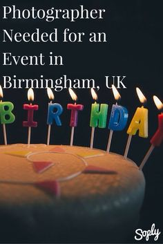 Freelance event photographer needed in Birmingham, UK for a 30th Birthday Party. If you would like to capture this event click the pin!