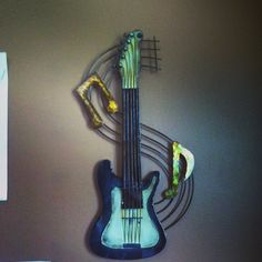 #Guitar wall hanging from bed bath and beyond #music #decoration