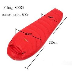 WINGACE High Quality Ultralight Goose Down Fill Waterproof Sleeping Bag 4 Colors Several Weight Options