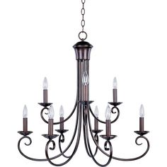 Rosalind Wheeler Tantallon 9 Light Candle-Style Chandelier Finish: Oil Rubbed Bronze