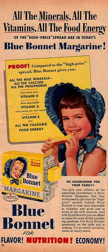 Blue Bonnet Margarine Ad by saltycotton, via Flickr
