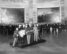 President Kennedy's body is placed in the Capitol Rotunda in Washington, D.C.