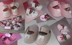 """[baby shower}  paper baby shoes filled with party favors...  I'm going to get """"Raiders"""" paper for a baby shower I'm hosting! (Baby BoY)"""