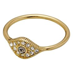 Ring : Glance : Gold Plated : White