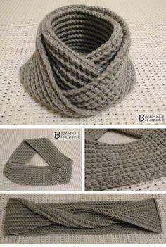 La bufanda-snud insólita y simple por el gancho en 2,5 horas