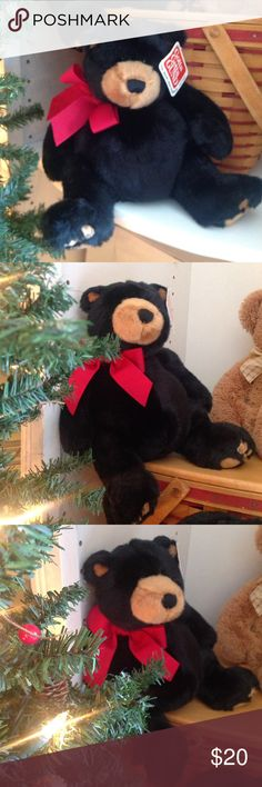 """Gunds Black Christmas Bear Very soft 11"""" Black Bear! he's a Christmas Bear his name is Blakeford, he does have a twin, they are sold separately Gund Other"""