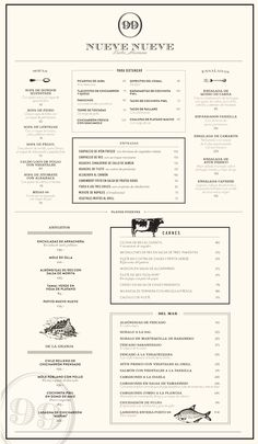 Oddfellows Menu A Simple And Sleek Menu  General Design
