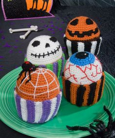 Scary Muffins Crochet Pattern  #halloween  #crochet
