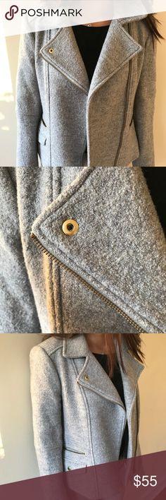 Banana Republic Grey Moto Jacket Gorgeous jacket in great condition. Make an offer! Banana Republic Jackets & Coats