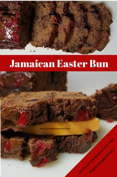 In Jamaica, there is no Easter without, Jamaican Easter Bun. This Jamaican Bun is soft, sweet with raisins and taste great with a slice of cheddar che. Jamaican Desserts, Jamaican Cuisine, Jamaican Recipes, Gourmet Recipes, Cake Recipes, Dessert Recipes, Cooking Recipes, Bread Recipes, Jamaican Easter Bun Recipe