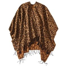 Knit Wrap Collections - Leopard poncho. It's weird I really feel like I'd wear this