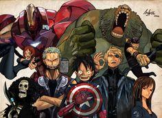 I Personaggi di One Piece come gli Avengers!!! - OnePieceGT.it