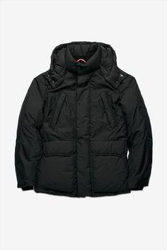 Down Overcoat Black