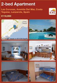 2-bed Apartment in Las Coronas, Avenida Del Mar, Costa Teguise, Lanzarote, Spain ►€118,950 #PropertyForSaleInSpain